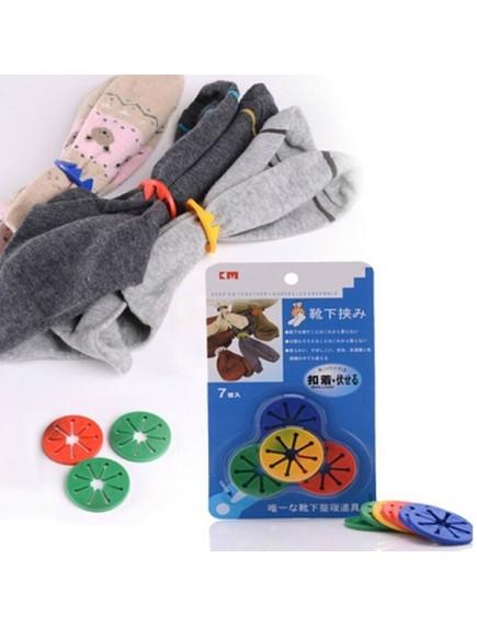 HO2553 - Organizer Socks Clip Ring Kaos Kaki 7 pcs
