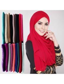 HO2573W - Pashmina Scarf Hijab Katun Color Pop