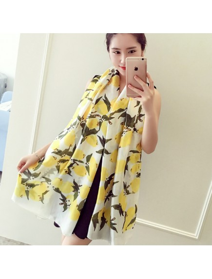 HO2574W - Premium Pashmina Scarf Besar Silk Large