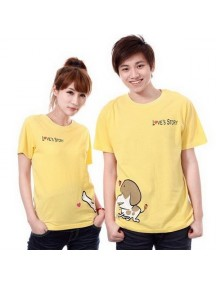 HO2580 - Baju Couple Yellow ( 2 Pcs )