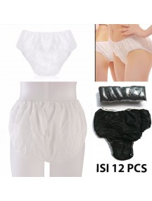 HO2581W - Celana Dalam Kertas Disposable Underwear (12pc)