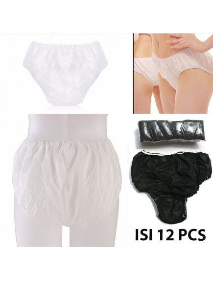 HO2581W - Celana Dalam Kertas Disposable Underwear (12pc)