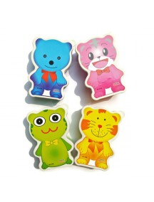 HO2582W - Kotak Makan Lunch Box Animal Colour
