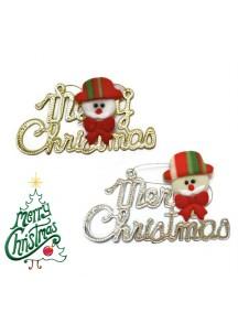 HO2583W - Aksesoris Dekorasi Pohon Natal Merry Christmas Santa