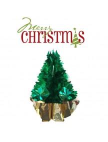 HO2584 - Aksesoris Dekorasi Hiasan Gantung Pohon Natal Hijau