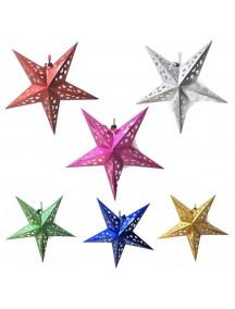 HO5523W - Lampion Dekorasi Hiasan Gantung Bintang Star 3D (30cm)