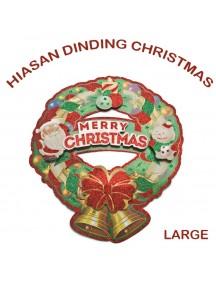 HO2595 - Dekorasi Tempelan Natal Christmas Wreath (Large)
