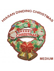 HO2596 - Dekorasi Tempelan Natal Christmas Wreath (Medium)