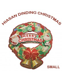 HO2597 - Dekorasi Tempelan Natal Christmas Wreath (Small)