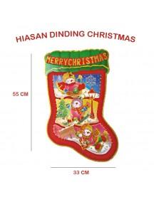 HO2599 - Dekorasi Dinding Natal Christmas Sock (Large)