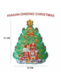 HO2600 - Dekorasi Dinding Natal Christmas Tree