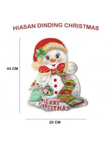 HO3323 - Dekorasi Dinding Natal Christmas Snowman