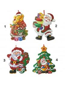 HO3324W - Dekorasi Gantungan Natal Christmas Board 3D