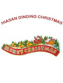 HO3325 - Dekorasi Tempelan Dinding Natal Merry Christmas