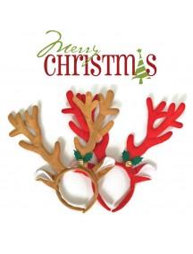 HO3332W - Bando Natal Rusa Bell Santa Christmas