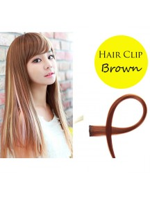 HO4057C - Hair Clips Potongan Lurus (Brown)