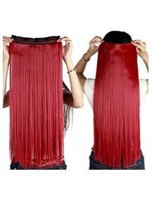 HO4529 - Hair Clips Ekstension Lurus Panjang Red