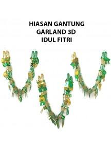 HO2476W - Hiasan Gantung Garland 3D Ornament/Hiasan Idul Fitri