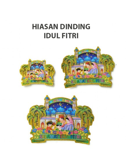 HO2487B - Ornament/Hiasan Dinding 3D Idul Fitri (Medium)