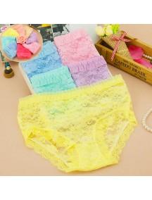 HO5347W - Celana Dalam / Underwear Fashion Lace dengan Waist Hollow