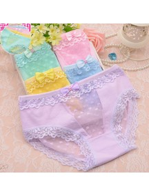 HO5352W - Celana Dalam / Underwear Fashion Spot Lace Love with Bow