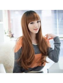 HO3342 - Hair Wig Rambut Palsu Natural Wave Poni (Light Brown)