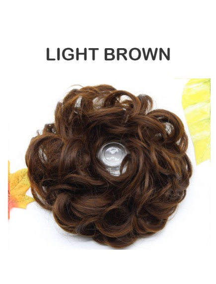 HO3343W - Hair Clip Ring Keriting Bun Ekstension Curly