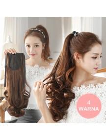 HO3349W - Hair Clip Ponytail Kuncir Panjang Sweet Curly 48 CM