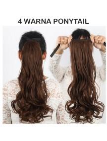 HO3350W - Hair Clip Ponytail Kuncir Panjang Curly 48 CM