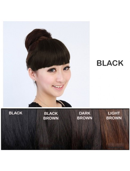HO3353W - Hair Clip Poni Depan Lurus Korean Extension