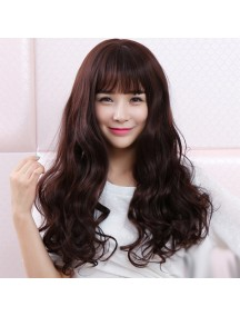 HO3359 - Hair Wig Rambut Palsu Korea Curly 60 cm (Dark Brown)