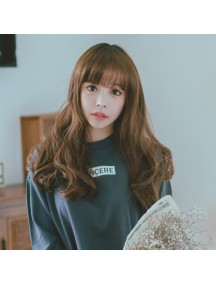HO3360 - Hair Wig Rambut Palsu Korea Curly 60 cm (Light Brown)