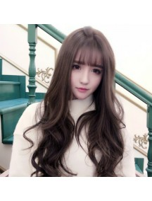 HO3361 - Hair Wig Rambut Palsu Korean Sweet Curly (Brown Black)
