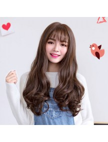 HO3366 - Hair Wig Rambut Palsu Korean Wave Curly (Dark Brown)