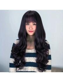 HO3375 - Hair Wig Rambut Palsu Korean Sweet Curly (Natural Black)