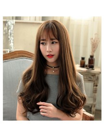HO3376 - Hair Wig Rambut Palsu Korean Sweet Curly (Dark Brown)