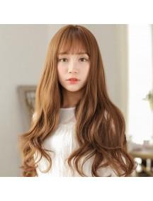 HO3378 - Hair Wig Rambut Palsu Korean Bangs Curly (Light Brown)