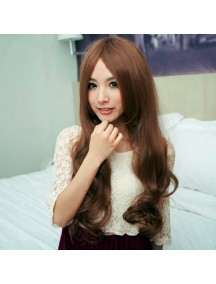 HO3383 - Hair Wig Rambut Palsu Panjang Wavy Long (Dark Brown)