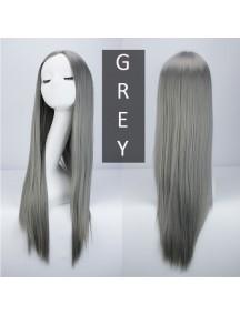 HO3385 - Hair Wig Rambut Palsu Panjang Lurus (Grey)