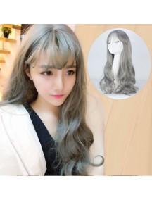 HO3386 - Hair Wig Rambut Palsu Panjang Sweet Curly (Grey)