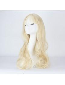 HO3387 - Hair Wig Rambut Palsu Panjang Sweet Curly (Platinum Blonde)