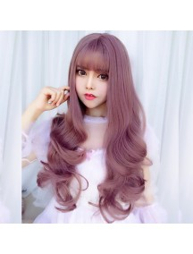 HO3388 - Hair Wig Rambut Palsu Panjang Sweet Curly (Taro Purple)