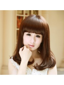 HO3391 - Hair Wig Rambut Palsu Sedang Korean (Light Brown)