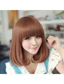 HO3393 - Hair Wig Rambut Palsu Pendek Wavy Korean (Light Brown)