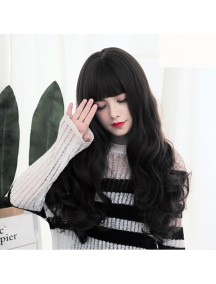 HO3394 - Hair Wig Rambut Palsu Korean Curly (Natural Black)