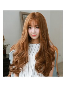 HO3398 - Hair Wig / Rambut Palsu Panjang Curly (Light Brown)