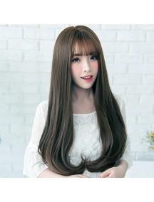 HO3401- Hair Wig / Rambut Palsu Panjang Natural Wave (Dark Brown)