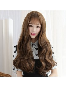 HO3402- Hair Wig / Rambut Palsu Panjang Keriting (Light Brown)