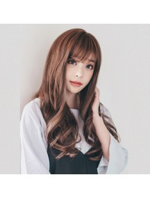 HO3403- Hair Wig / Rambut Palsu Panjang Curly (Light Brown)
