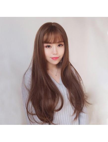 HO3406- Hair Wig / Rambut Palsu Panjang Natural ( Brown)